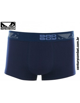 Cueca Bad Boy Boxer Cotton Azul Marinho