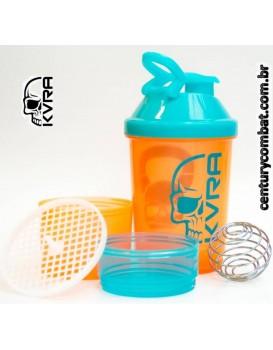 Coqueteleira Shaker KVRA Laranja Azul Claro
