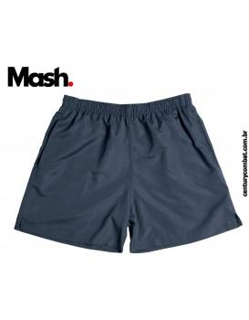 Shorts Mash Com Recorte Vivo Contraste Cinza Chumbo