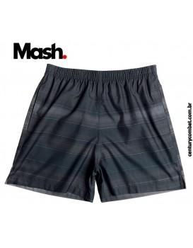 Shorts Mash Estampado Listras Pretas