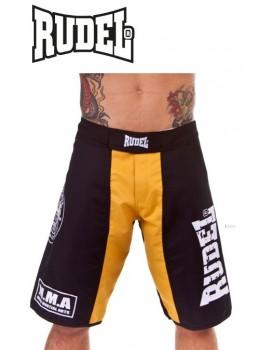 Bermuda Academy Rudel MMA Amarela Preta