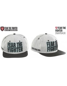 Boné Fear The Fighter Cinza Preto