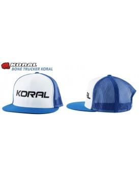 Boné Koral Trucker Jiu Jitsu Branco Azul
