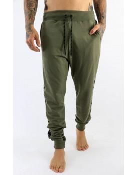 Calça Kvra Moletom Legends Masculina Verde Militar