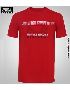 Camiseta Bad Boy Jiu Jitsu Competidor Vermelha