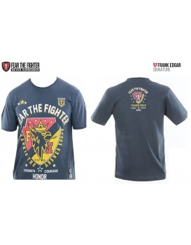 Camiseta Fear The Fighter Frank Edgard Signature Cinza