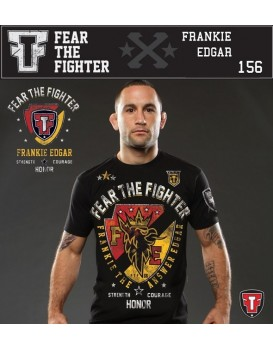 Camiseta Fear The Fighter Frank Edgard Signature Preta