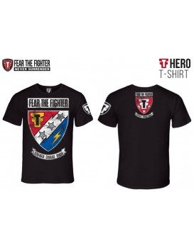 Camiseta Fear The Fighter Hero Preta