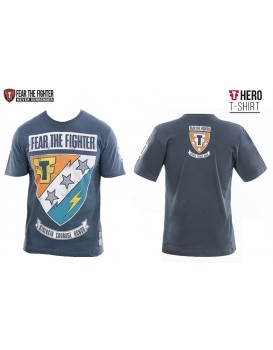 Camiseta Fear The Fighter Hero Cinza