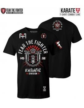 Camiseta Fear The Fighter Karate Preta