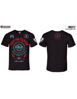 Camiseta Fear The Fighter MMA Preta