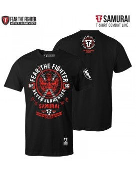 Camiseta Fear The Fighter Samurai Preta