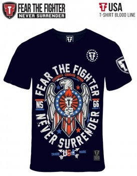 Camiseta Fear The Fighter Usa Marinho