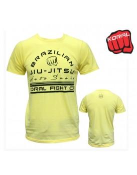 Camiseta Koral Arte Suave Amarela