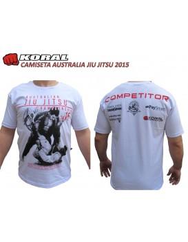 Camiseta Koral Australian Jiu Jitsu Championship Branca