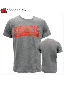 Camiseta Koral BJJ Land mescla vermelha