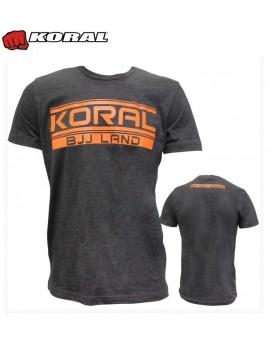 Camiseta Koral BJJ Land Laranja