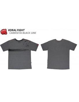 Camiseta Koral Black Line Mescla Alvejada