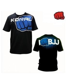 Camiseta Koral I Am BJJ Preta Azul