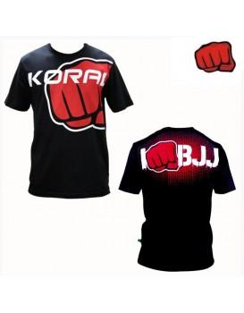 Camiseta Koral I Am BJJ Preta Vermelha