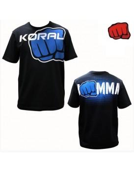 Camiseta Koral I Am MMA Preta Azul