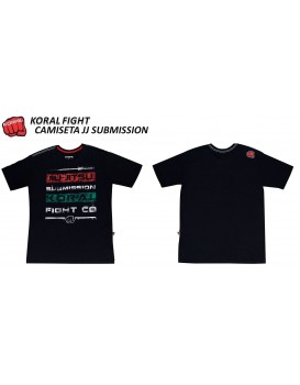 Camiseta Koral Jiu Jitsu Submission Black