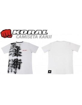 Camiseta Koral Kanji Branca