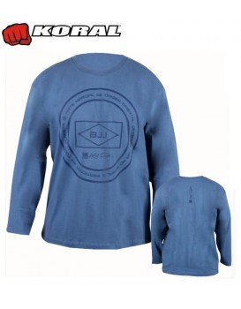 Camiseta Koral First Flag Azul Jeans Manga Longa