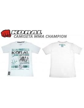 Camiseta Koral MMA Champion Branca