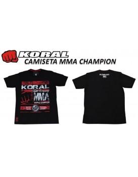 Camiseta Koral MMA Champion Preta