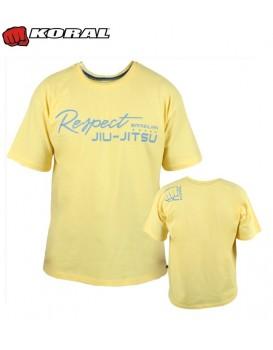 Camiseta Koral Respect Jiu Jitsu Amarela