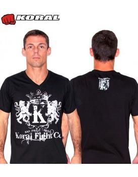 Camiseta Koral Lion Preta