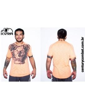 Camiseta Kvra Sheer Roses Laranja