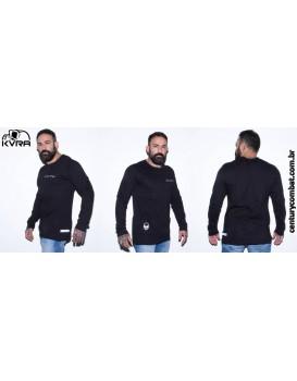 Camiseta Kvra ID Manga Longa Preta