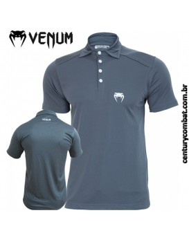 Camisa Polo Venum Logo Cinza