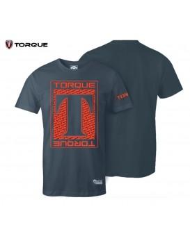 Camiseta Torque Acqua Cinza Vermelha