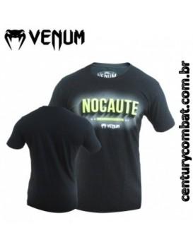 Camiseta Venum MMA Nocaute Preta