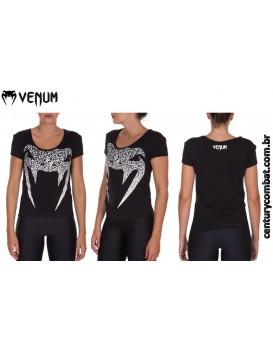 Camiseta Venum Assault Feminina Preta
