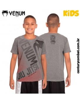 Camiseta Venum Big Jiu Jitsu Infantil Cinza