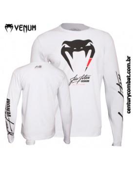 Camiseta Venum BJJ Manga Longa Branca