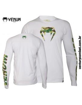 Camiseta Venum Camo Manga Longa Branca