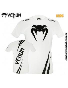 Camiseta Venum Challenger Infantil Branca