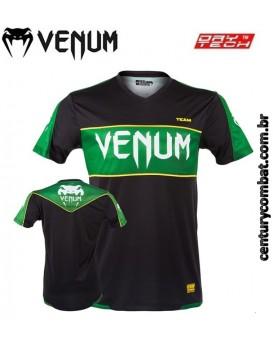 Camiseta Venum Competitor Dry Tech Preta Verde