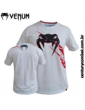Camiseta Venum Exploding Branca Vermelha