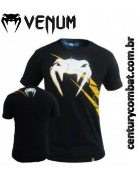 Camiseta Venum Exploding Preta Amarela