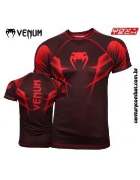 Camiseta Venum Explosion Preta Vermelha