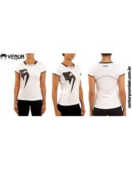 Camiseta Venum Feminina X Giant Performance Branca