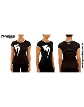 Camiseta Venum Feminina X Giant Performance Preta