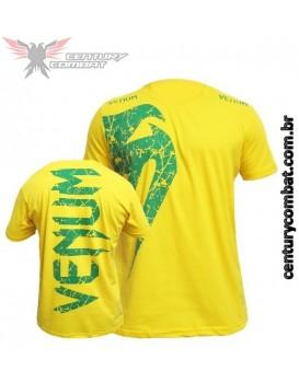 Camiseta Venum Giant Amarela Brasil