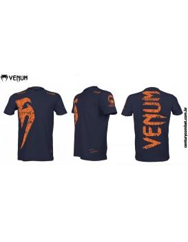 Camiseta Venum Giant Azul Laranja